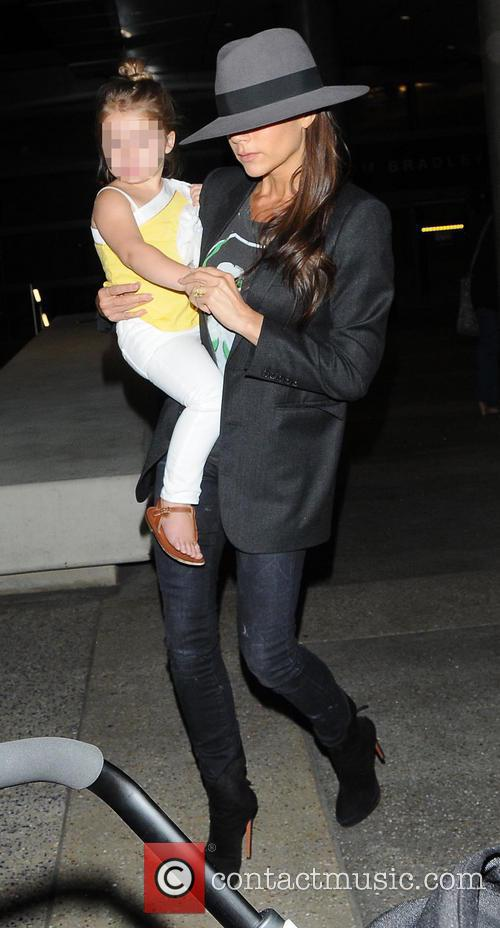 Victoria Beckham and Harper Beckham 4