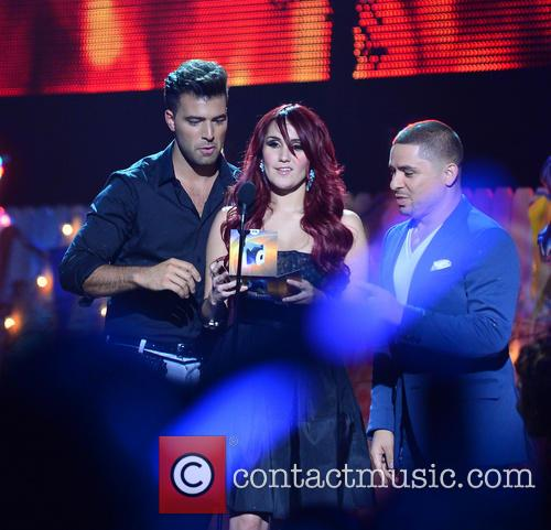 Jencarlos Canela, Dulce Maria and Larry Hernandez
