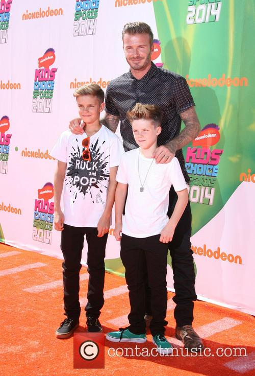 David, Romeo and Cruz Beckham