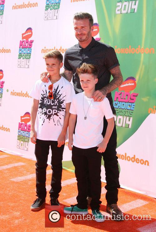 David Beckham and With Sons Romeo James Beckham 4