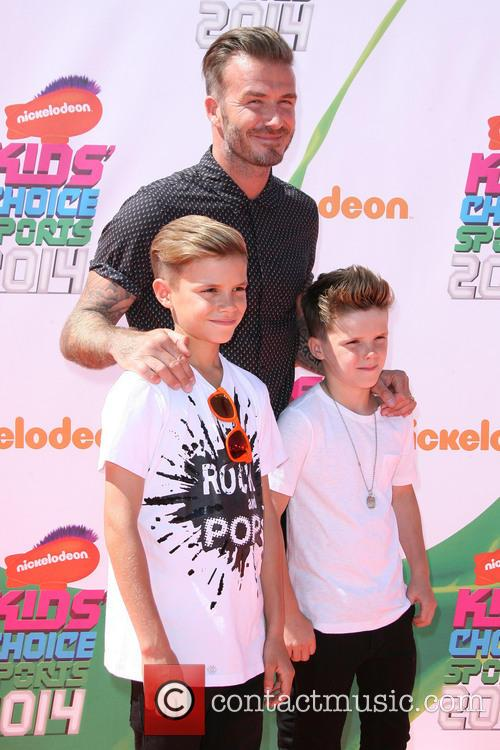 David Beckham and With Sons Romeo James Beckham 6