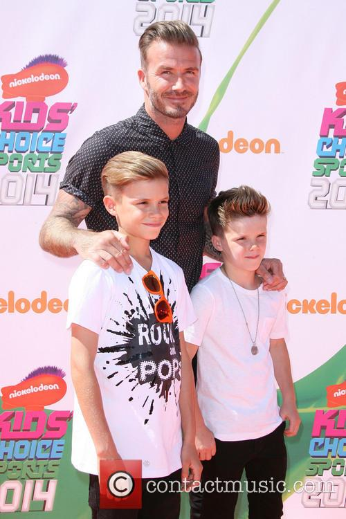 David Beckham and With Sons Romeo James Beckham 9