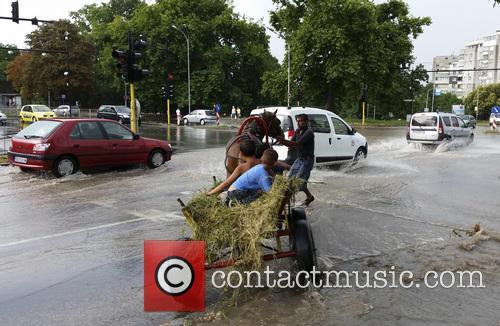 Heavy rain floods the Bulgarian town of Varna