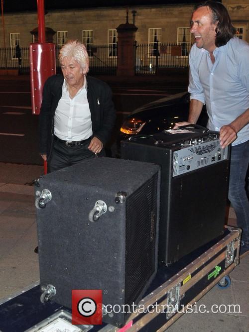 Ian McLagan arrives at Robbie Fox's Bel and...