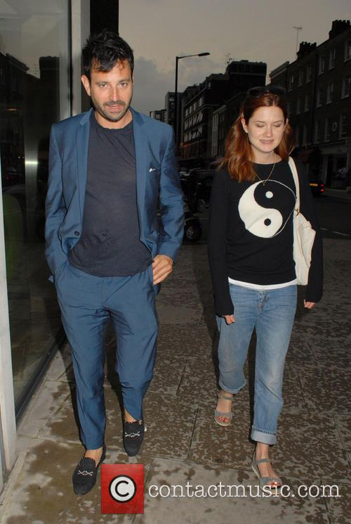 Bonnie Wright and Simon Hammerstein 1