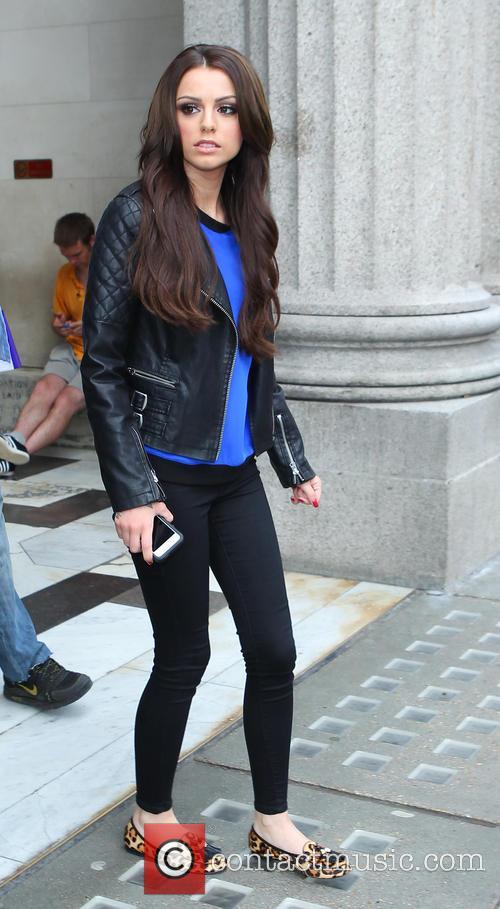 Cher Lloyd leaves a TV studio