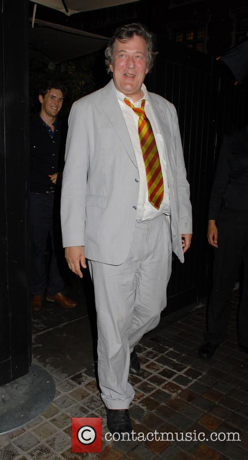 stephen fry celebrities at chiltern firehouse 4295135