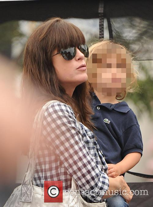 Selma Blair at the Farmers Market with her...