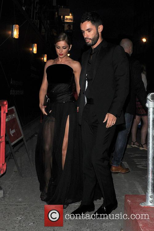 Cheryl Cole and her new husband celebrate an...