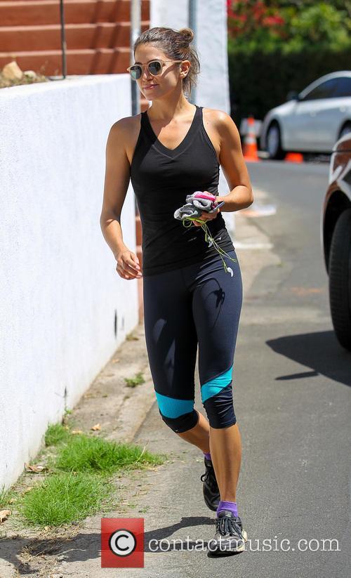 Nikki Reed leaving her gym