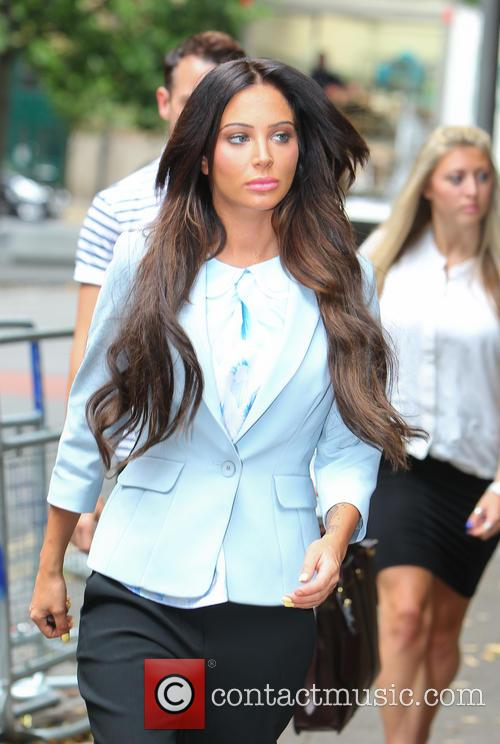 Tulisa court arrival