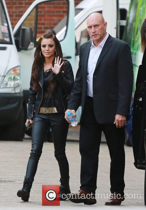 Cher Lloyd arriving at Sony HQ