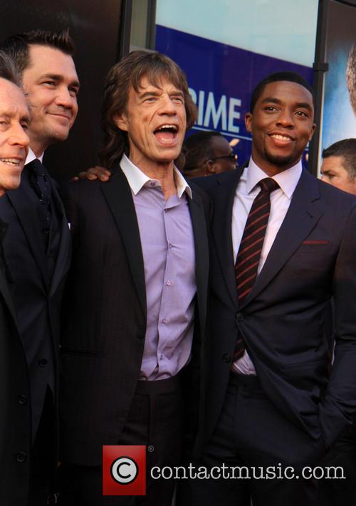Mick Jagger and Chadwick Boseman