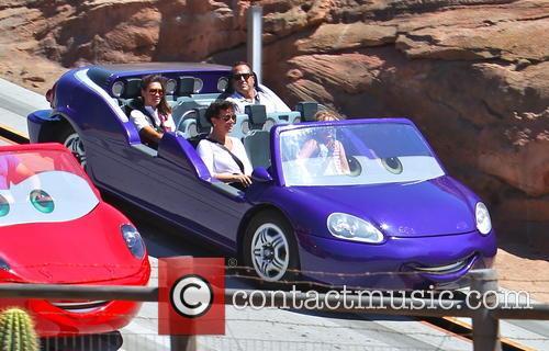 Kris Jenner At Disney California Adventure Park