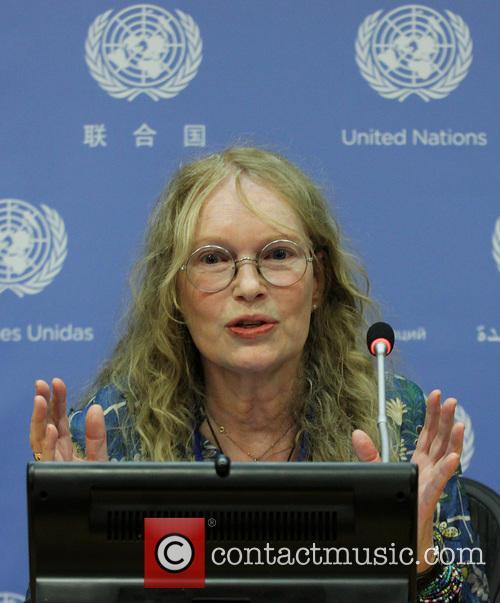 UNICEF Goodwill Ambassador Mia Farrow