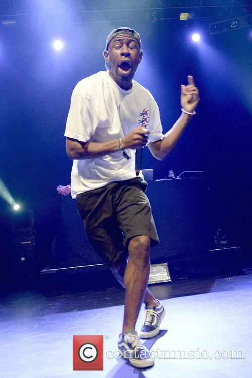 Tyler The Creator performing at The Forum in...