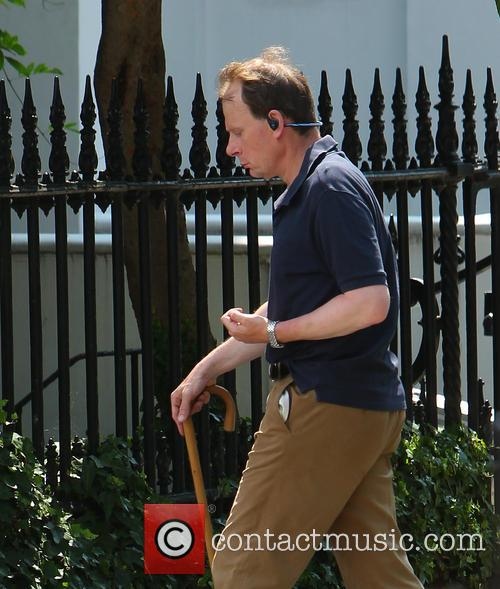 Andrew Marr out walking in North London