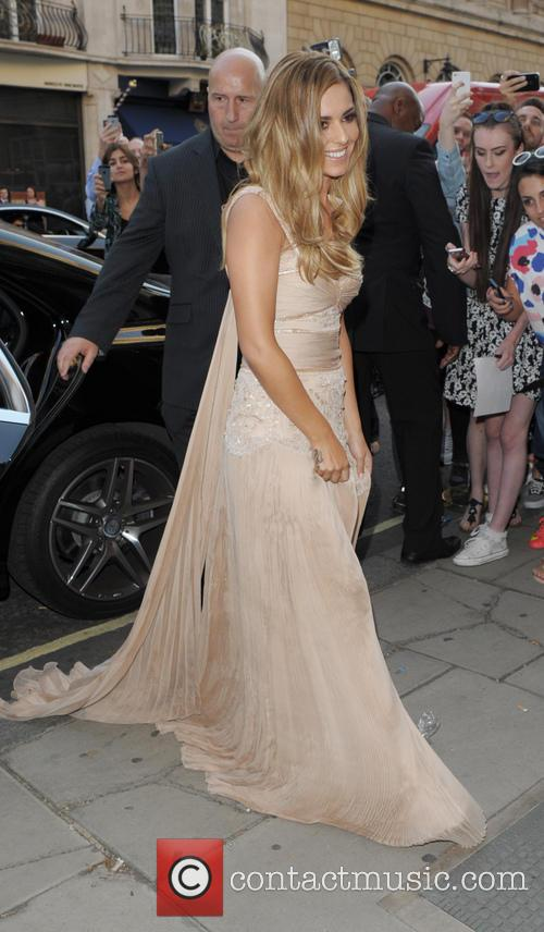 Cheryl Cole arriving for the launch of her...