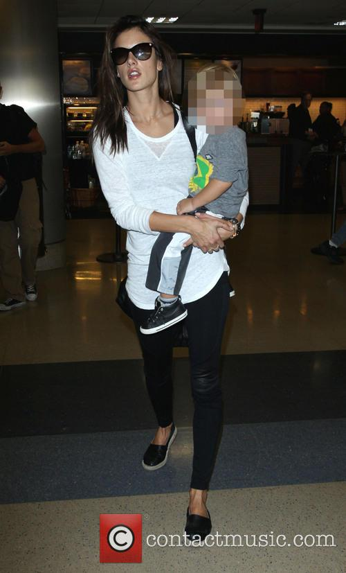 Alessandra Ambrosio at Los Angeles International airport
