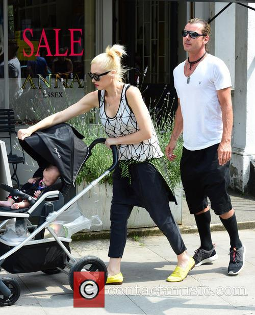 Gwen Stefani, Gavin Rossdale, Kingston Rossdale, Zuma Rossdale and Apollo Rossdale 7