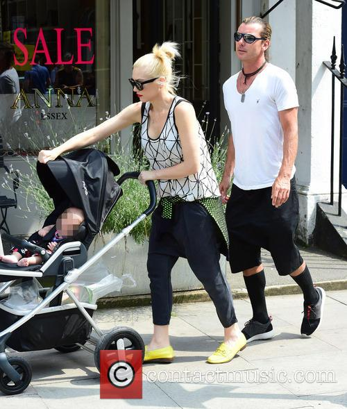 Gwen Stefani, Gavin Rossdale, Kingston Rossdale, Zuma Rossdale and Apollo Rossdale 9
