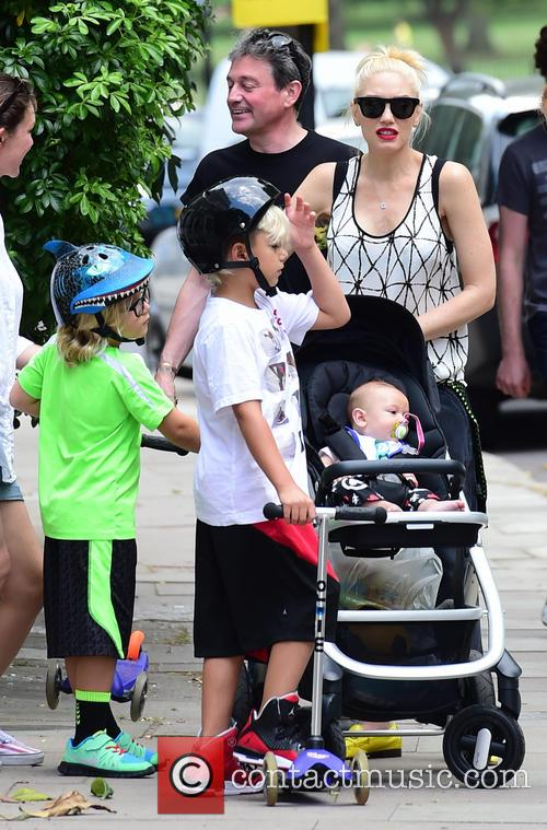 Gwen Stefani, Gavin Rossdale, Kingston Rossdale, Zuma Rossdale and Apollo Rossdale 11