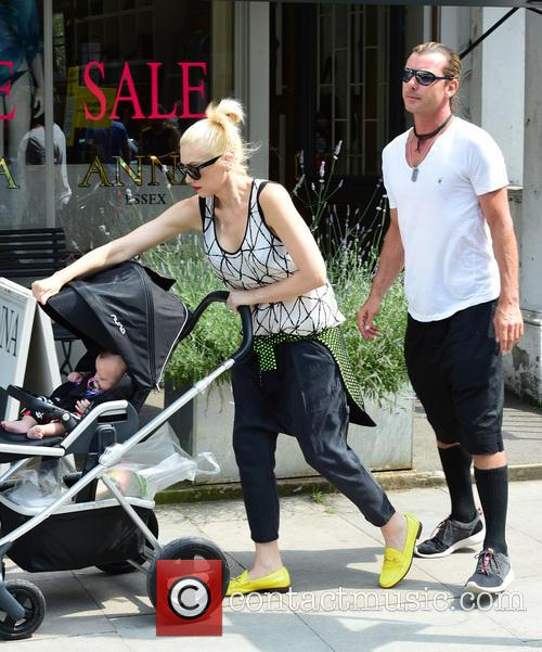 Gwen Stefani, Gavin Rossdale, Kingston Rossdale, Zuma Rossdale and Apollo Rossdale 12