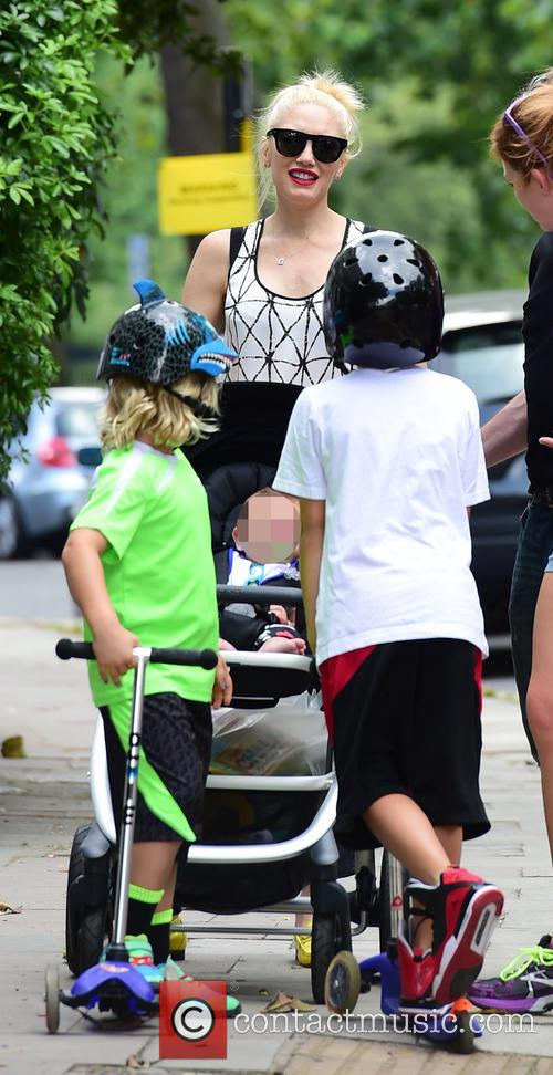 Gwen Stefani, Gavin Rossdale, Kingston Rossdale, Zuma Rossdale and Apollo Rossdale 15