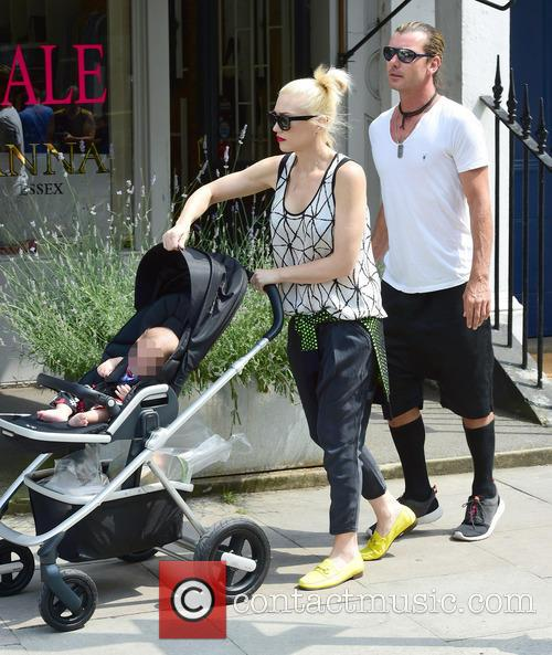 Gwen Stefani, Gavin Rossdale, Kingston Rossdale, Zuma Rossdale and Apollo Rossdale 19