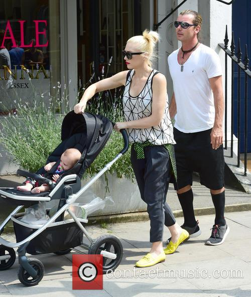 Gwen Stefani, Gavin Rossdale, Kingston Rossdale, Zuma Rossdale and Apollo Rossdale 20