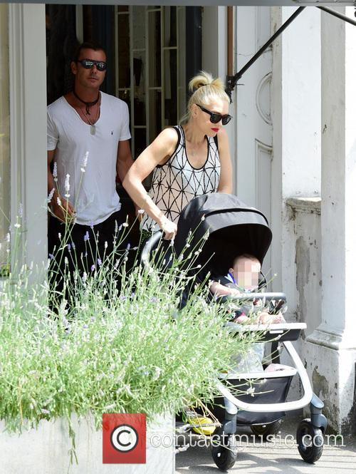 Gwen Stefani, Gavin Rossdale, Kingston Rossdale, Zuma Rossdale and Apollo Rossdale 22