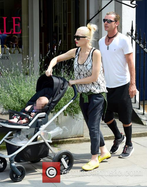 Gwen Stefani, Gavin Rossdale, Kingston Rossdale, Zuma Rossdale and Apollo Rossdale 36