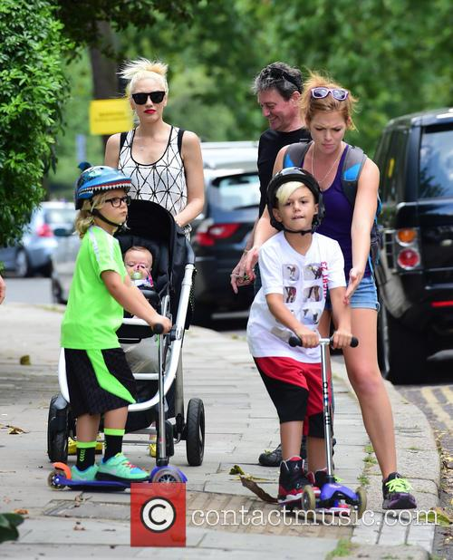 Gwen Stefani, Gavin Rossdale, Kingston Rossdale, Zuma Rossdale and Apollo Rossdale 39