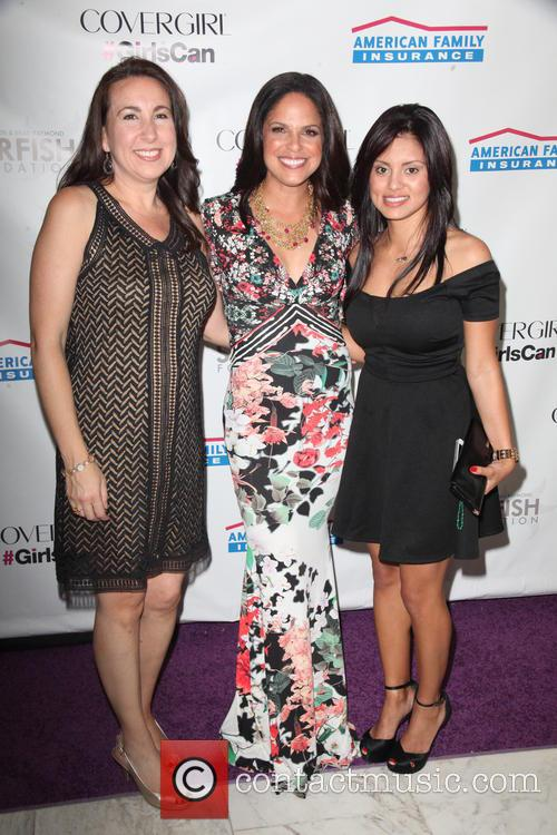 Maria Argueta, Soledad O'brien and Michelle Abarca