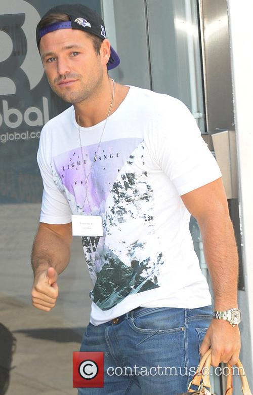 Mark Wright arriving at Capital Radio