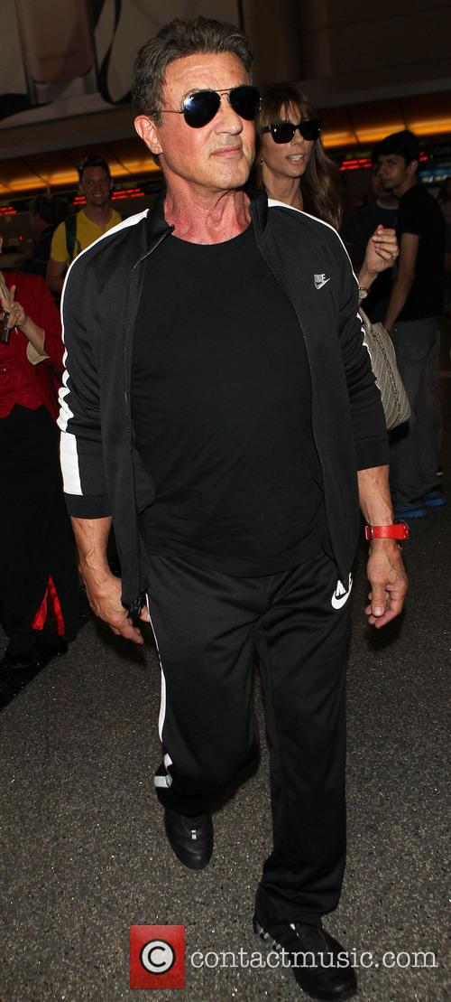 Sylvester Stallone at Los Angeles International Airport