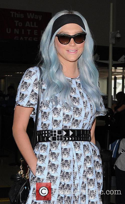 Kesha arrives at Los Angeles International Airport
