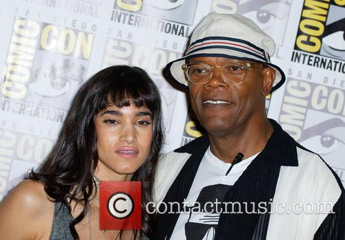 Sofia Boutella and Samuel L. Jackson 1