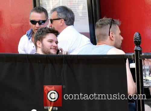 Jack Reynor enjoying a drink with friends