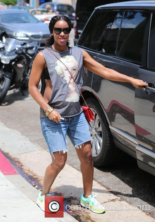 Kelly Rowland visits Cecconi's and shops at M.A.C Cosmetics