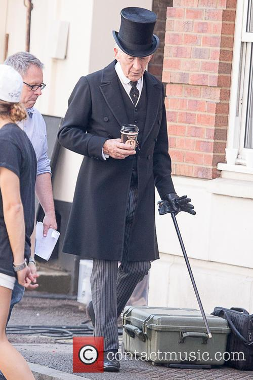 On the set of the new 'Sherlock' movie