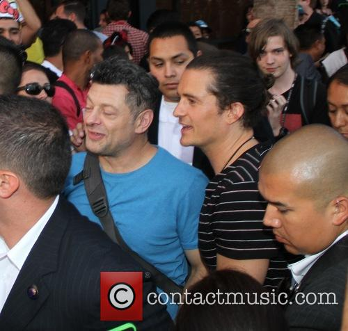 Orlando Bloom and Andy Serkis 5