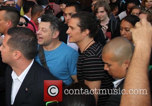 Orlando Bloom and Andy Serkis 1