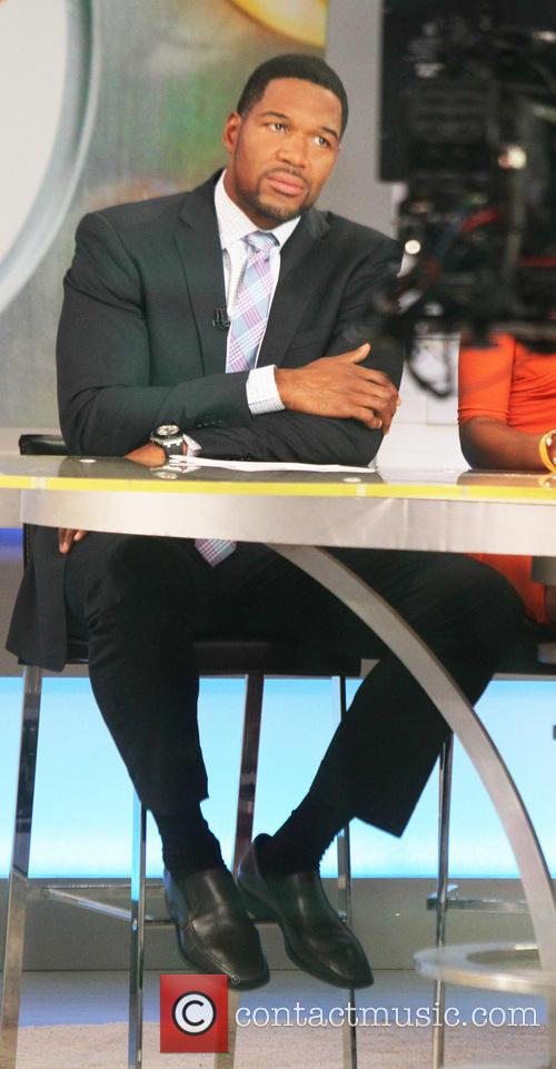michael strahan celebrities on abcs good morning 4303563