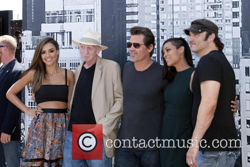 Jessica Alba, Frank Miller, Josh Brolin, Rosario Dawson and Robert Rodriguez