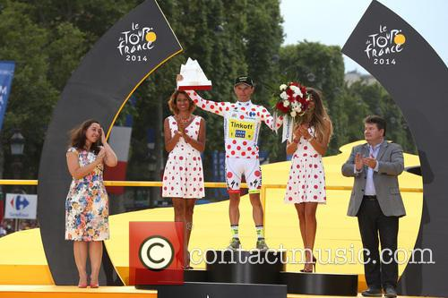2014 Tour de France final stage and podium...