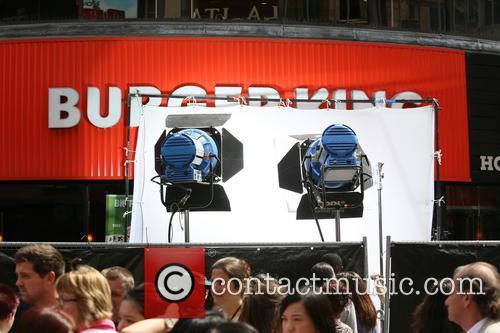 Bradley Cooper filming on the set of Adam...