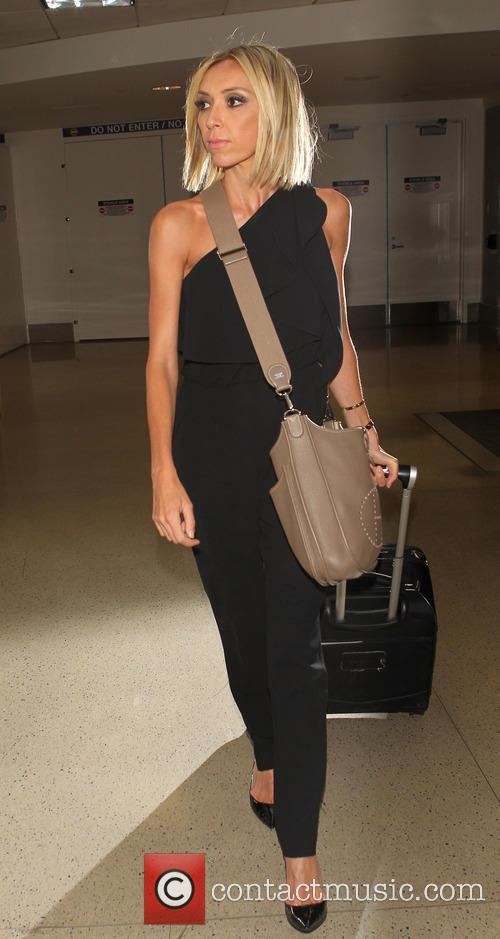Giuliana Rancic arrives at Los Angeles International Airport...