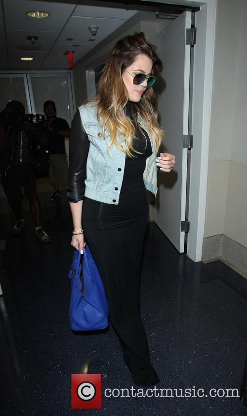 Khloe Kardashian at Los Angeles International Airport (LAX)