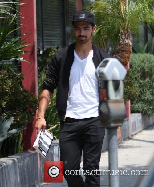 Joe Jonas goes shopping on Melrose Ave in...